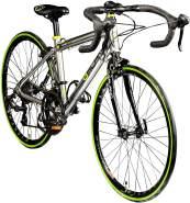 Galano Vuelta STI, 24 Zoll Rennrad Jugendliche Jugendfahrrad 14 Gang silber, 35. 5 cm