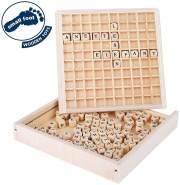 """small foot 10952 Wörter legen """"Educate"""", aus FSC® 100%-zertifiziertem Holz, Lernspielzeug für ABC-Anfänger und Schüler"""