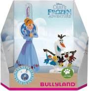 Bullyland 12938 - Disney Olafs Frozen Adventure Spielfigurenset, Anna und Olaf mit Charm