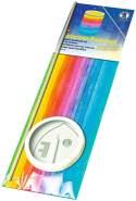 Ursus 7430000 - Laternen Bastelset, Regenbogen Streifen, ca. 20 x 15,3 cm, aus Transparentpapier, Set zum Erstellen von selbstgebastelten Laternen, ideal geeignet für den Laternenlauf