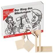 Bartl 102245 Mini-Holz-Puzzle Der Ring des Nibelungen aus kleinen Holzteilen, einem Ring und Einer Schnur