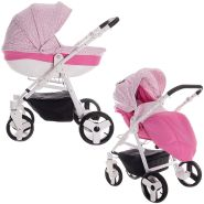 Friedrich Hugo Easy Comfort | 2 in 1 Kombi Kinderwagen | Farbe: Rose & Leo Fabric