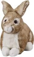 Bauer Spielwaren 'Deine Tiere mit Herz' Hase liegend: Kleines Kuscheltier zum Kuscheln und Liebhaben, Ideal als Geschenk, 25 cm, braun (12512)