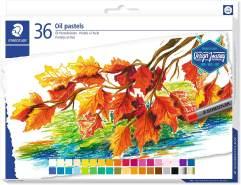 STAEDTLER 2420 C36 Ölpastellkreiden (wasserfest, haftet auf nahezu allen glatten Flächen, Kreidendurchmesser ca. 11 mm) Kartonetui mit 36 brillanten Farben