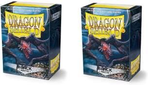 Arcane Tinmen Dragon Shield Standard Sleeves - Matte Black (100 Sleeves)