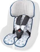 Priebes Sitzeinlage Tom für Kindersitze Gruppe 1| waschbar & atmungsaktiv | einfache Befestigung | seitlicher Kopfschutz | verwendbar für Sommer und Winter, Design:Schwalben grau