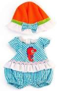 Miniland 31642 Puppenkleidung, weiß, blau, orange
