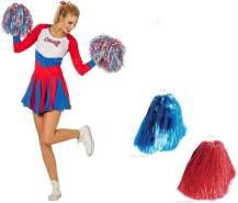 Wilberssexy Damen Cheerleader Kleid Uniform Gr. 38 mit Tanzwedelset