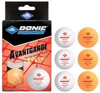 Donic-Schildkröt - TT-Ball 3-Stern AVANTGARDE POLY 40+, mixed 3 white/ 3orange