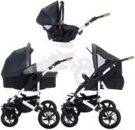 Bebebi myVARIO   3 in 1 Kombi Kinderwagen Komplettset   Luftreifen   Farbe: myStar