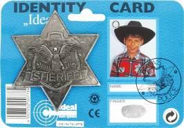 Ideal J.G.Schrödel Sheriff-Stern antik: für Cowboy-Kostüme, Fasching, auf Karte, grau (711 0778)