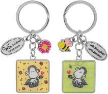 """Schlüsselanhänger für zwei, Biene """"Wir gehören zusammen - wie Bienchen und Blumen"""""""