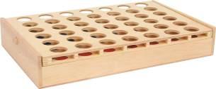 small foot Gesellschaftsspiel Vier in Einer Reihe auf Reise, als Reiseversion für unterwegs in praktischer Holzbox 3460
