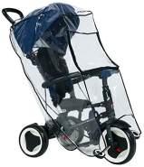 Lorelli Universal Regenschutz, Kinder Dreirad, Schutz vor Regen und Wind, Farbe:transparent