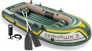 Intex Seahawk 3 Boot - Set inklusive Pumpe und Paddel