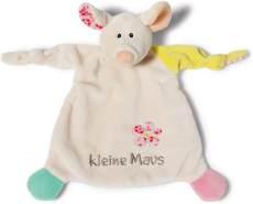 NICI Schmusetuch Maus 'Kleine Maus´ 25x25 cm – Maus Schnuffeltuch ab 0+ Monaten – Kuscheltuch für Babys & Kleinkinder – Baby Kuscheltier / Schnuffeltuch – Baby Schmusetuch für Mädchen & Jungen – 40039