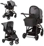 Hauck Rapid 4 Plus Trio Set 3 in 1 Kinderwagen Set bis 25 kg, isofix-fähige Babyschale, Babywanne mit Matratze ab Geburt, höhenverstellbarer Griff, klein faltbar, leicht - Grau, 149744