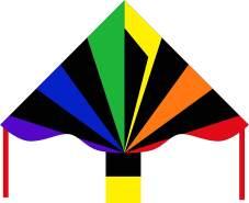 HQ Kinderdrachen Simple Flyer Black Rainbow (Eco Line)