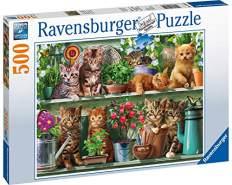 Ravensburger Puzzle 14824 - Katzen im Regal - 500 Teile