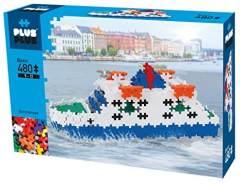 Plus Plus 52284 Basic Ferry 480pcs Geniales Konstruktionsspielzeug, bunt