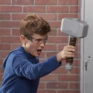 NERF Power Moves Marvel Avengers Thor Power Hammer, NERF Dart-Abschuss Spielzeug für Kinder, Rollenspiel, Spielzeug für Kinder ab 5 Jahren