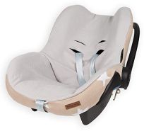 Baby's Only 915599 Bezug für Babyschale 0+ Stern beige / weiss