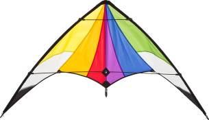 Ecoline 10218730 - Orion Rainbow Lenkdrachen Zweileiner, ab 10 Jahren, 74x140cm, inkl. 20kp Polyesterschnüre 2x30m auf Spulen, 2-5 Beaufort
