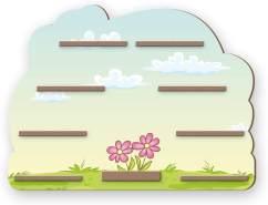Kreative Feder 'Blume' Regal für Musikbox und Figuren