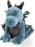 NICI 46713 - Drache Ivar stehend, 20cm, Kuscheltier, Plüschtier, blau-schwarz