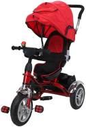 Kinderdreirad Kinderwagen Schieber Trike 7 in 1 Kinderbuggy Kinder Dreirad (Rot)