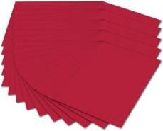 folia 614/50 20 - Fotokarton DIN A4, 300 g/qm, 50 Blatt, hochrot - zum Basteln und kreativen Gestalten von Karten, Fensterbildern und für Scrapbooking