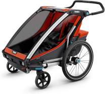 "Thule Baby Chariot Cross Multisport-Anhänger/-Buggy, Farbe: ""Roarange/Dark Shadow"", 2 Kinder"