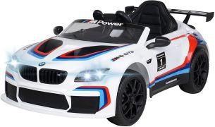 Kinder Elektro Auto BMW M6 GT3 Kinderauto Kinderfahrzeug Elektrofahrzeug Spiel (Weiß)