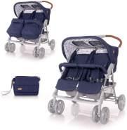 Lorelli 'TWIN' Zwillingskinderwagen dunkelblau