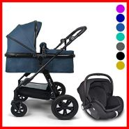 Pixini Travel-Set Arizona Luxe mit Babyschale (petrolblau melange)