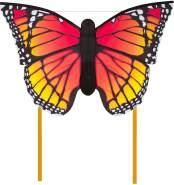 HQ Windspiration 106544 - Butterfly Monarch 'L' Kinderdrachen Einleiner, ab 5 Jahren, 80x130cm und 2x600cm Drachenschwanz, inkl. 17kp Polyesterschnur 40m auf Spule, 2-5 Beaufort
