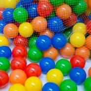 150 bunte Bälle für Bällebad 5,5cm Babybälle Plastikbälle Baby Spielbälle