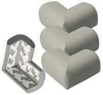 4x mumbi Kantenschutz Eckschutz für Kleinkinder Grau mit Klebefolie eckig