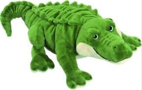 "Bauer Spielwaren ""Blickfänger"" Krokodil Plüschtier: Naturgetreues Kuscheltier, extraweich, ideal auch als Geschenk, 46 cm, grün (10221)"
