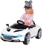 Kinder Elektro Auto SPYDER A228 Kinderauto Elektrofahrzeug Kinderfahrzeug Spiel (Weiß)