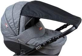 BABYLUX Sonnenschutz SONNENSEGEL für Kinderwagen UNI Buggy UV Schutz Schwarz
