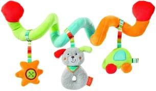 Fehn 086386 Activity-Spirale Holiday / Stoff-Spirale zum Greifen und Fühlen für Bett, Kinderwagen, Laufgitter anpassbar / Für Babys und Kleinkinder ab 0+ Monaten / Maße: 30 cm lang