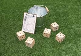 Carromco Riesen Würfelspiel, 5 Würfel, 50 Spielzettel