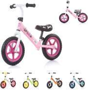 Chipolino, Laufrad Speed 12 Zoll, Gummigriff, Lenkstange Sitz höhenverstellbar pink