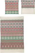 Irisette Biber Bettwäsche 2 teilig Bettbezug 155 x 220 cm Kopfkissenbezug 80 x 80 cm Feel 8215-60 rot