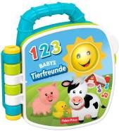 Fisher-Price GFP29 - Tierfreunde Liederbuch Baby Spielzeug und Lernspielzeug Musik und Geräuschen ab 6 Monaten, deutschsprachig