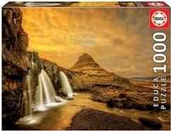 Educa Borras 17971 1000 Kirkjufellsfoss Wasserfall, Island Puzzle, Multicolor