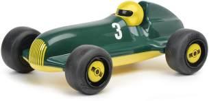 Schuco 450987300-Studio Racer Green-Lewis #3, my1stSchuco, Spielauto für Kinder ab 1 Jahr, Rennwagen Spielzeug ab 12 Monaten, grün/gelb