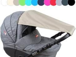 BABYLUX Sonnenschutz SONNENSEGEL für Kinderwagen UNI Buggy UV Schutz Khaki