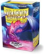Dragon Shield Matte, Lila / Purple Kartenfolien Kartenhüllen Sleeves - für Sammelkarten wie Pokemon Magic - Standardgröße
